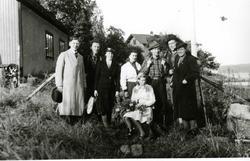 Før avreise. En grupper godtemplarer på Oslo Godtemplarungdo