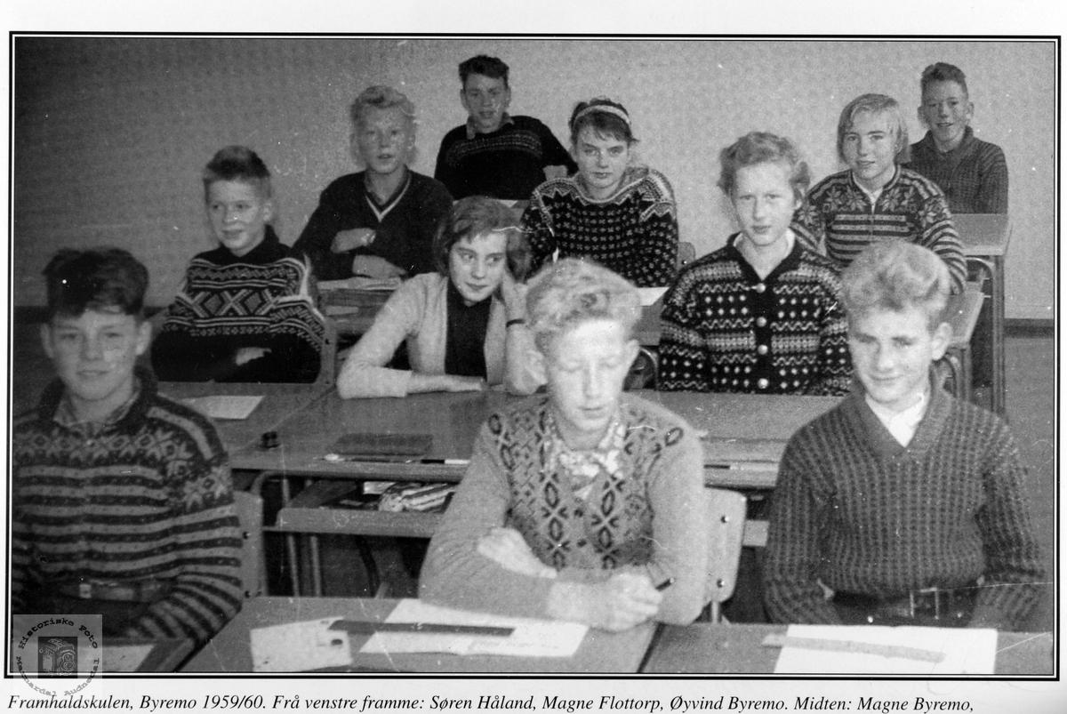 Framhaldskoleklasse Byremo skole.