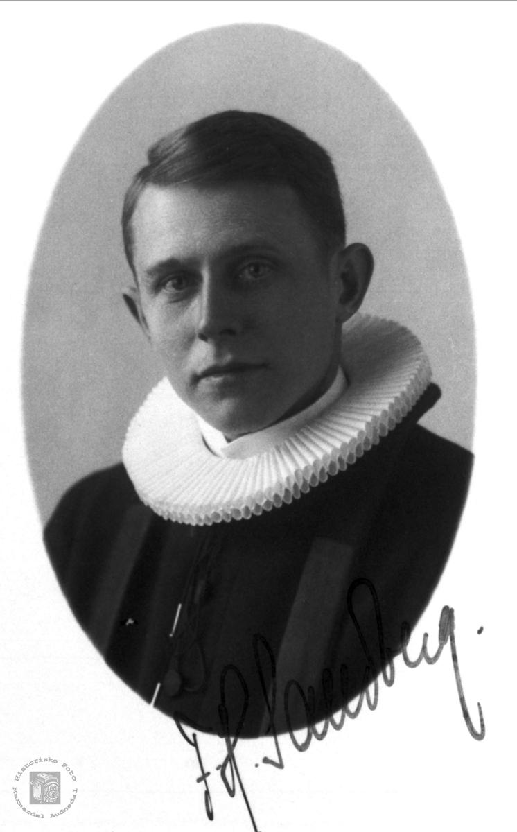 Portrett av sokneprest Sandberg.