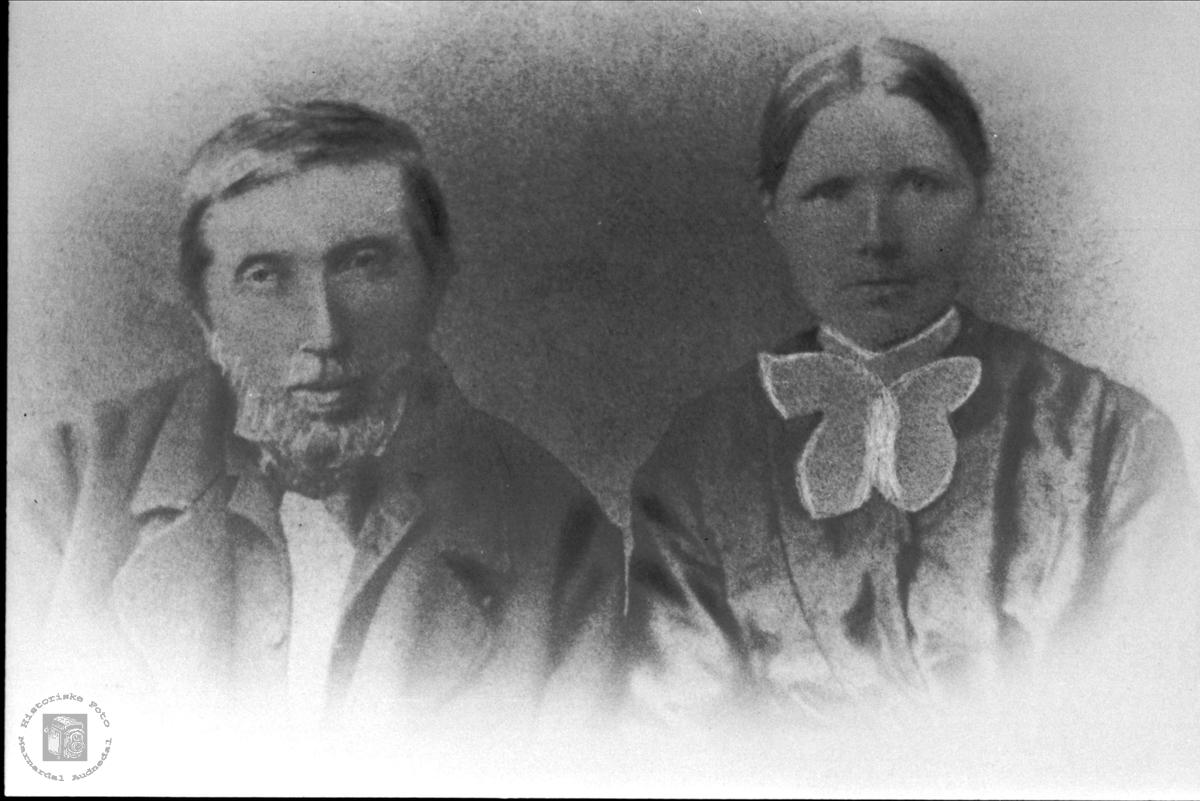 Søsknene Jens og Gunvor Birkeland, Øyslebø.