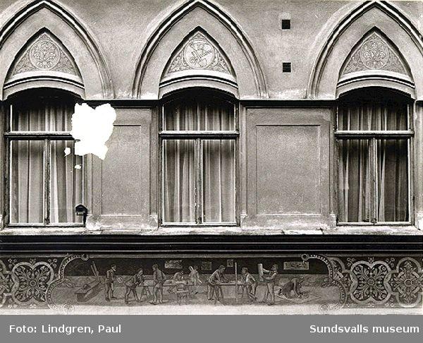Fasaddetaljer på Flottningsföreningens hus, Storg 12-14