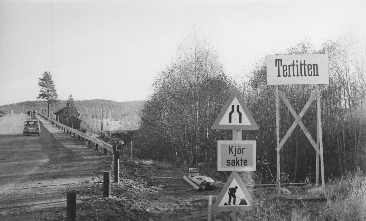 Adkomsten til det som ble Urskog-Hølandsbanens endestasjon fra 1968 ved Presterud.