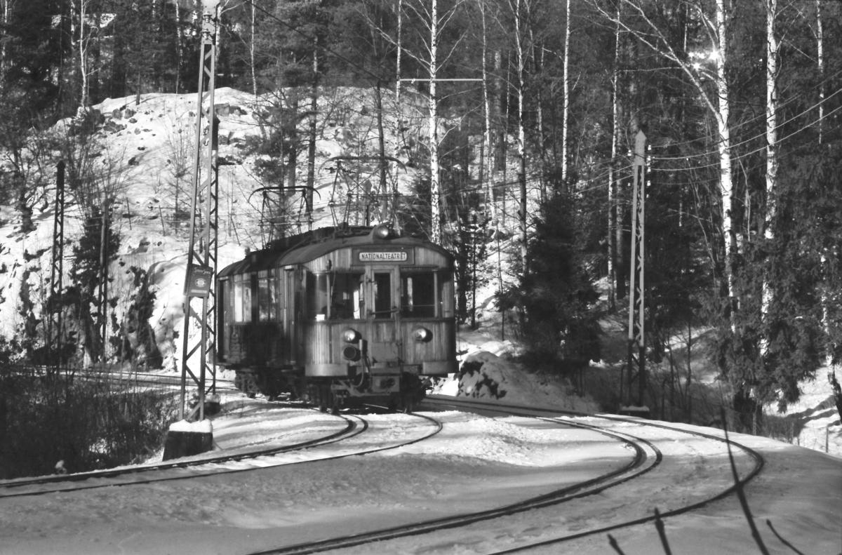 A/S Holmenkolbanen. Holmenkollbanen. Vogn 603, type 1951 (Skabo, NEBB)