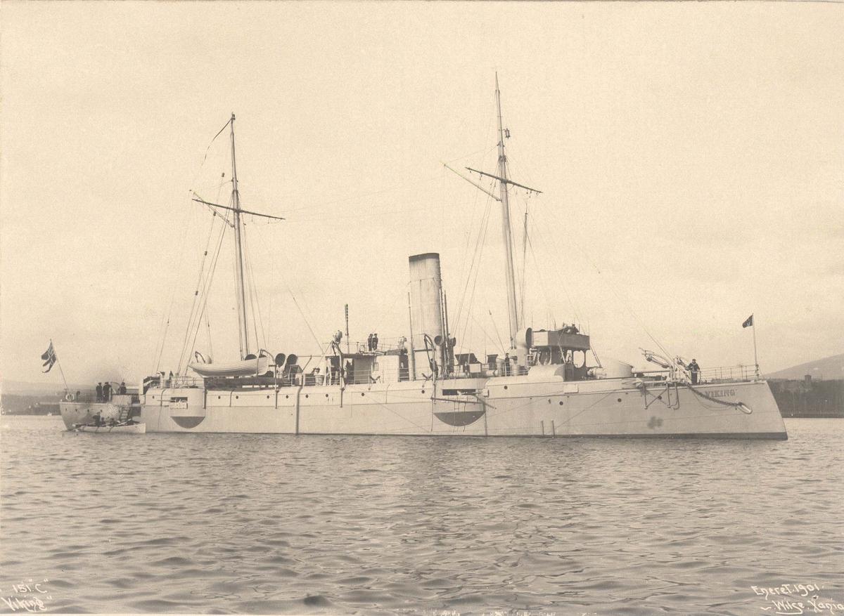 Motiv: Kanonbåt 1. kl Viking, styrbord side