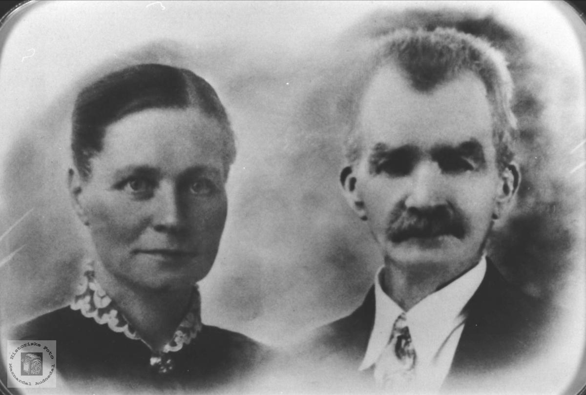 Portrett Sigrid og Johan Bøe