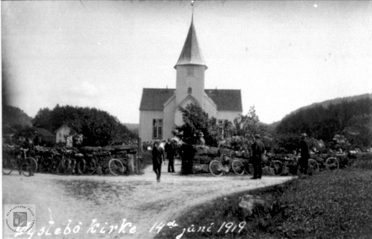 Øyslebø kirke i 1919