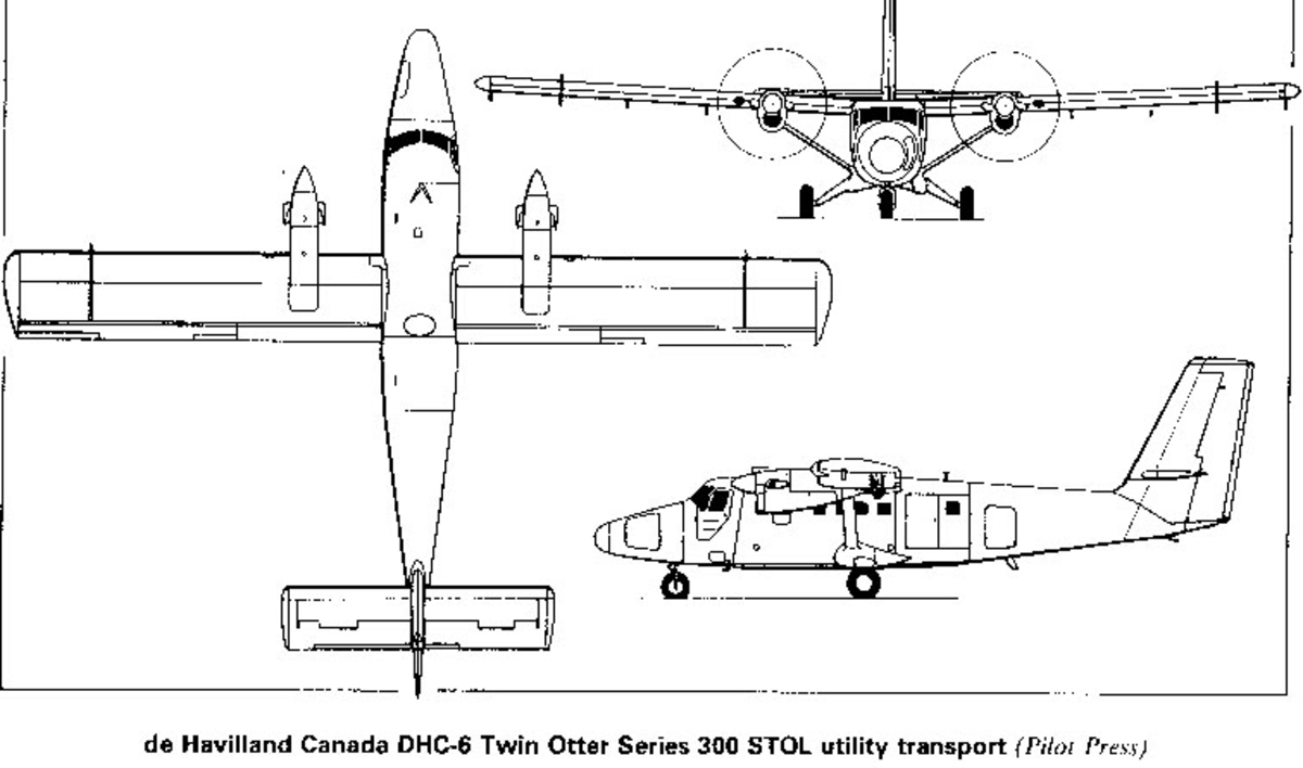 Treplanskisse, DHC 6 Twin Otter Series 300 STOL. Norsk