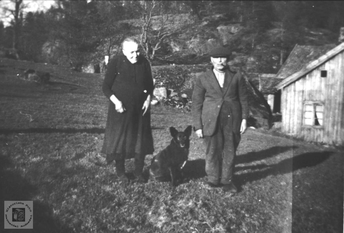 Ekteparet Mina og Knud Ausland