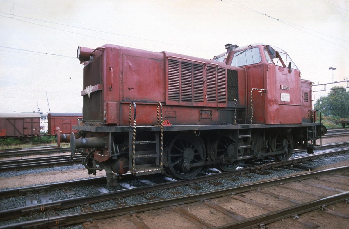 NSB dieselhydraulisk lokomotiv Di 2 801 MaK i skiftetjeneste på Loenga.