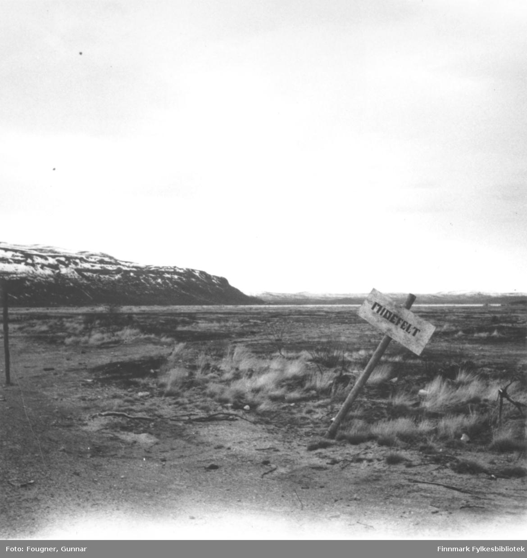 Et minefelt i Porsanger.
