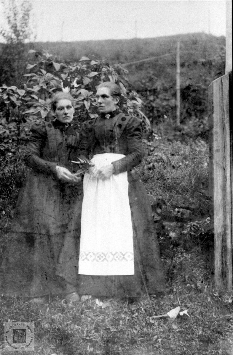 Søstre. Anna og Tomine (Mina) Lauvdal.