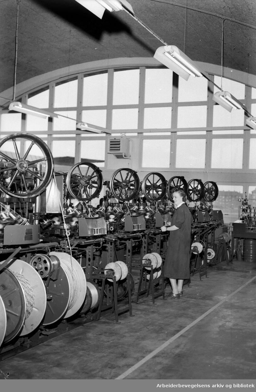 A/S Norsk Elektrisk Kabelfabrikk.Nybygg på Brynseng innviet.oktober 1955