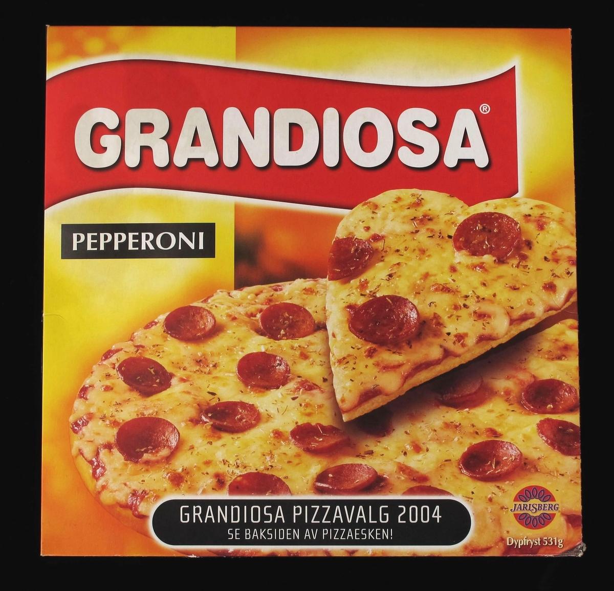Pizza med ost og pepperonipølse