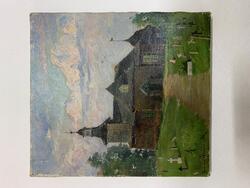 Silleruds kyrka [Oljemålning]