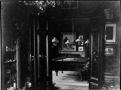 Interiör från biljardsalongen, Nolhaga slott, 1880-tal.