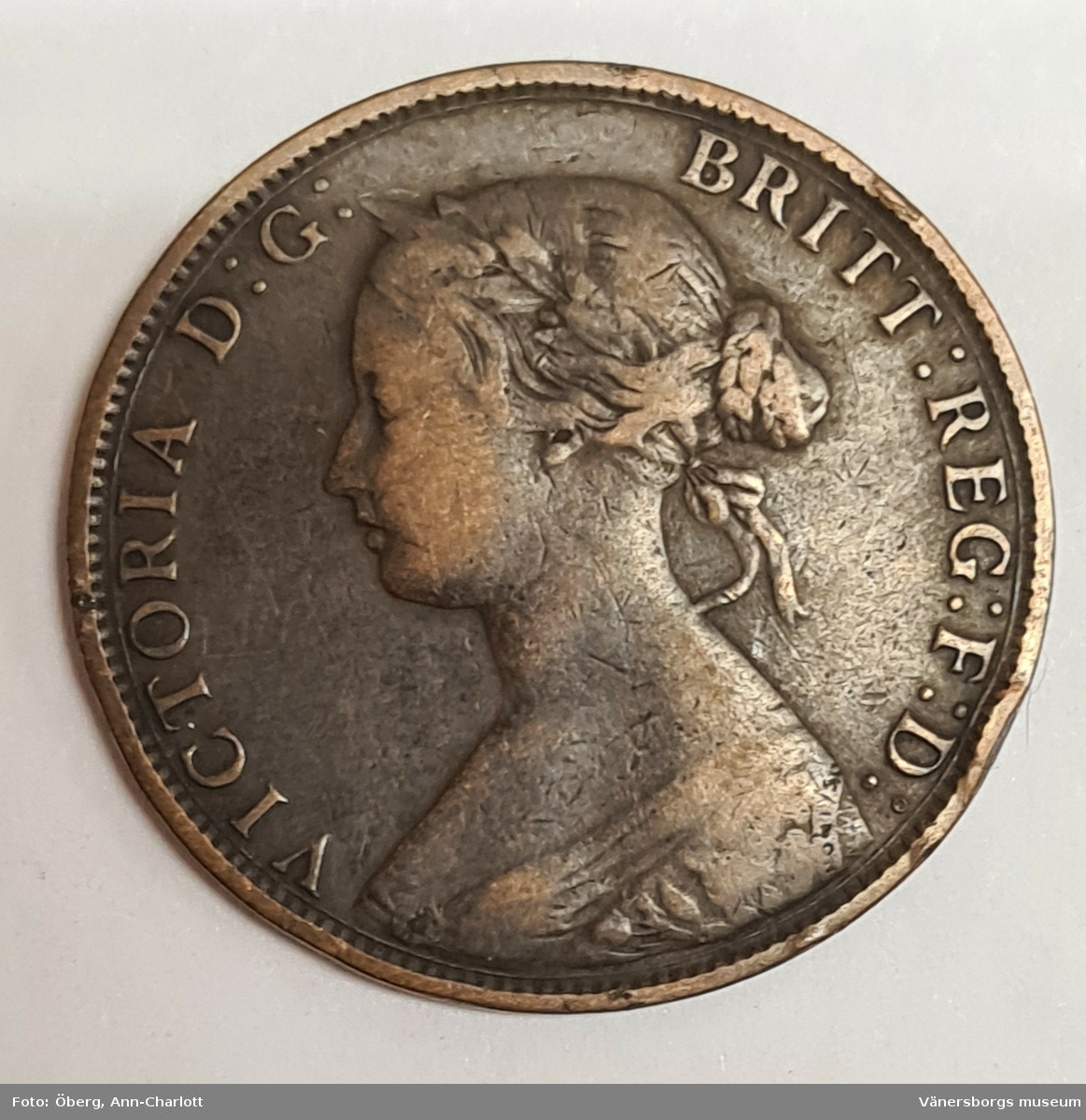4 mynt från Storbritanien. ½ Penny, 1891 ½ Penny, 1888 ½ Penny, 1867 ½ Penny, 1862