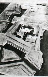 Jönköpings slott, modell av konstnären Henriksson, Huskvarna
