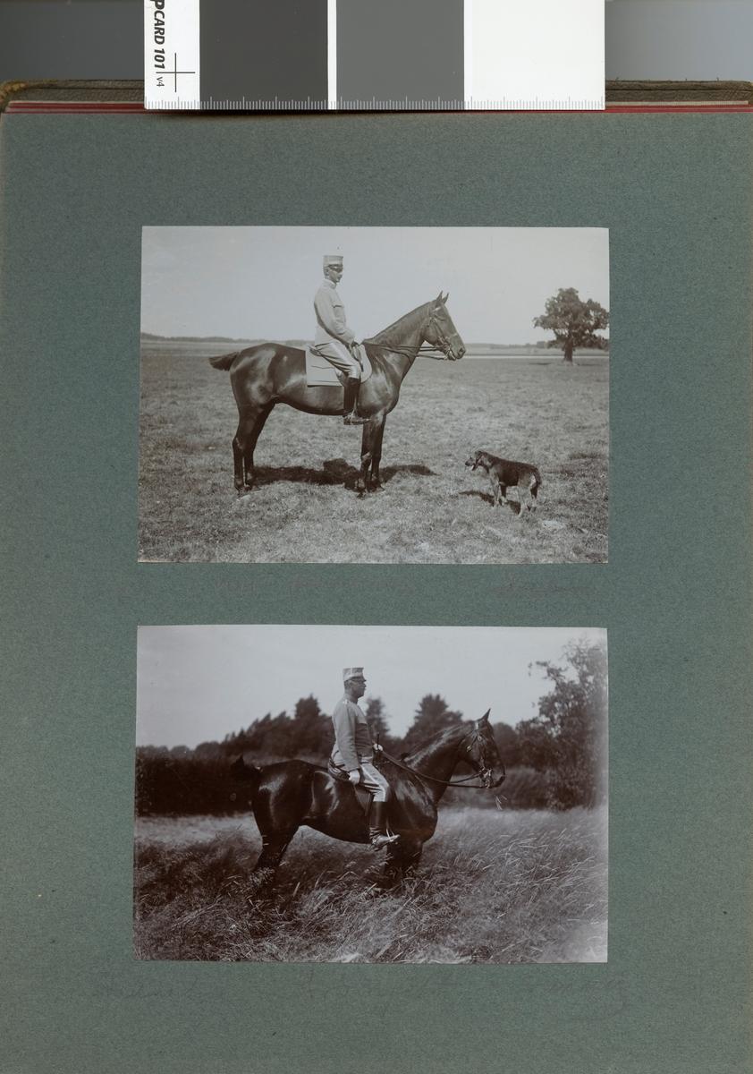 """Text i fotoalbum: """"Chefen överste Boltenstern""""."""
