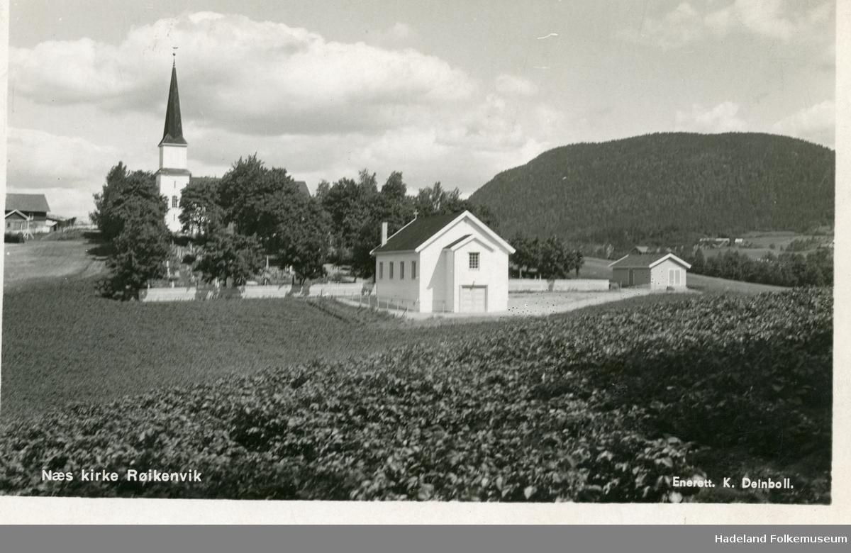 Nes kirke, Brandbu. Seks postkort