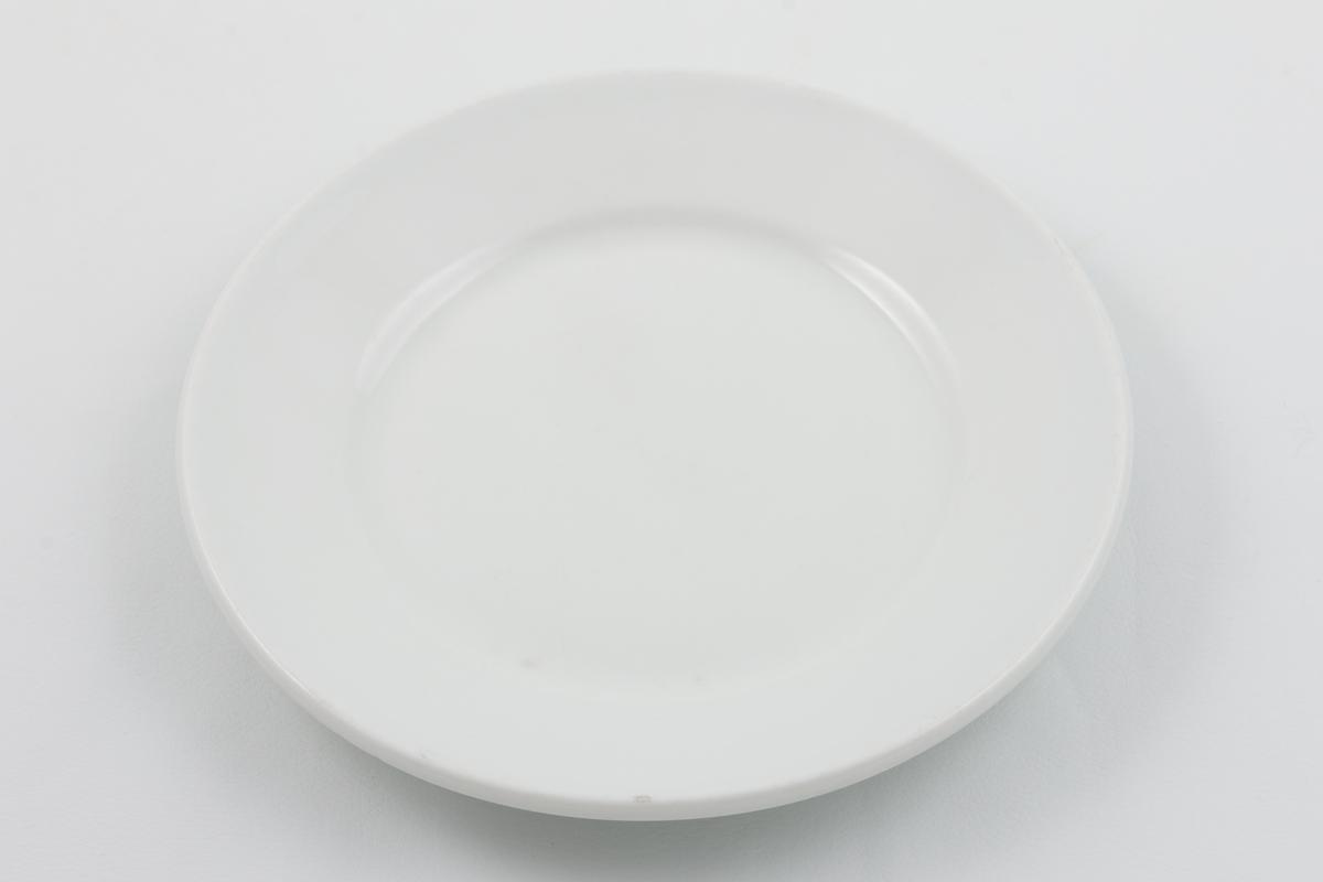 Middagstallerken i glasert porselen