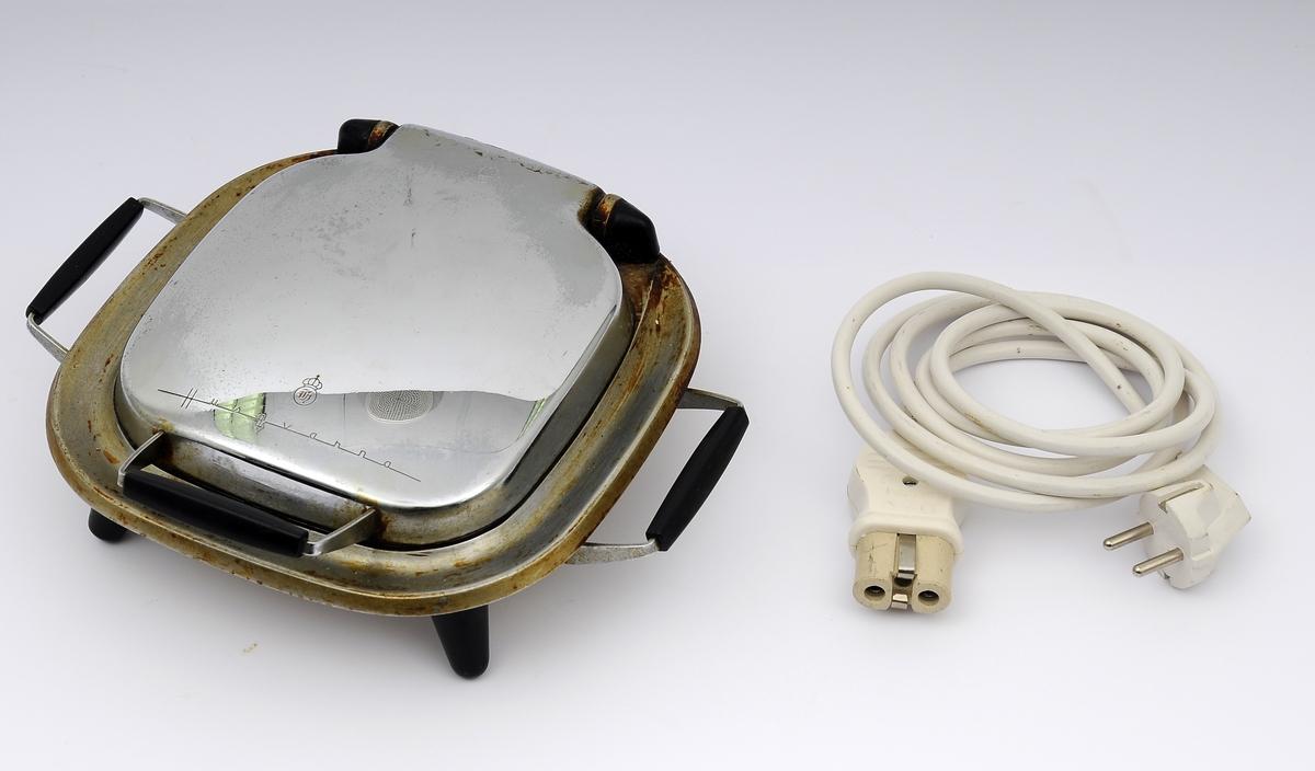 Elektrisk vaffeljern med  fire hjerter