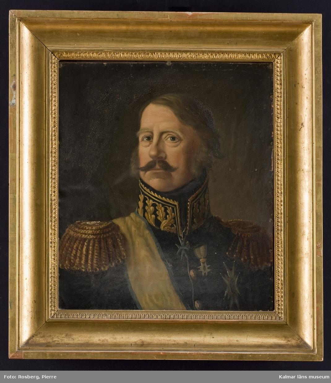Motivet föreställer ett porträtt av en general.
