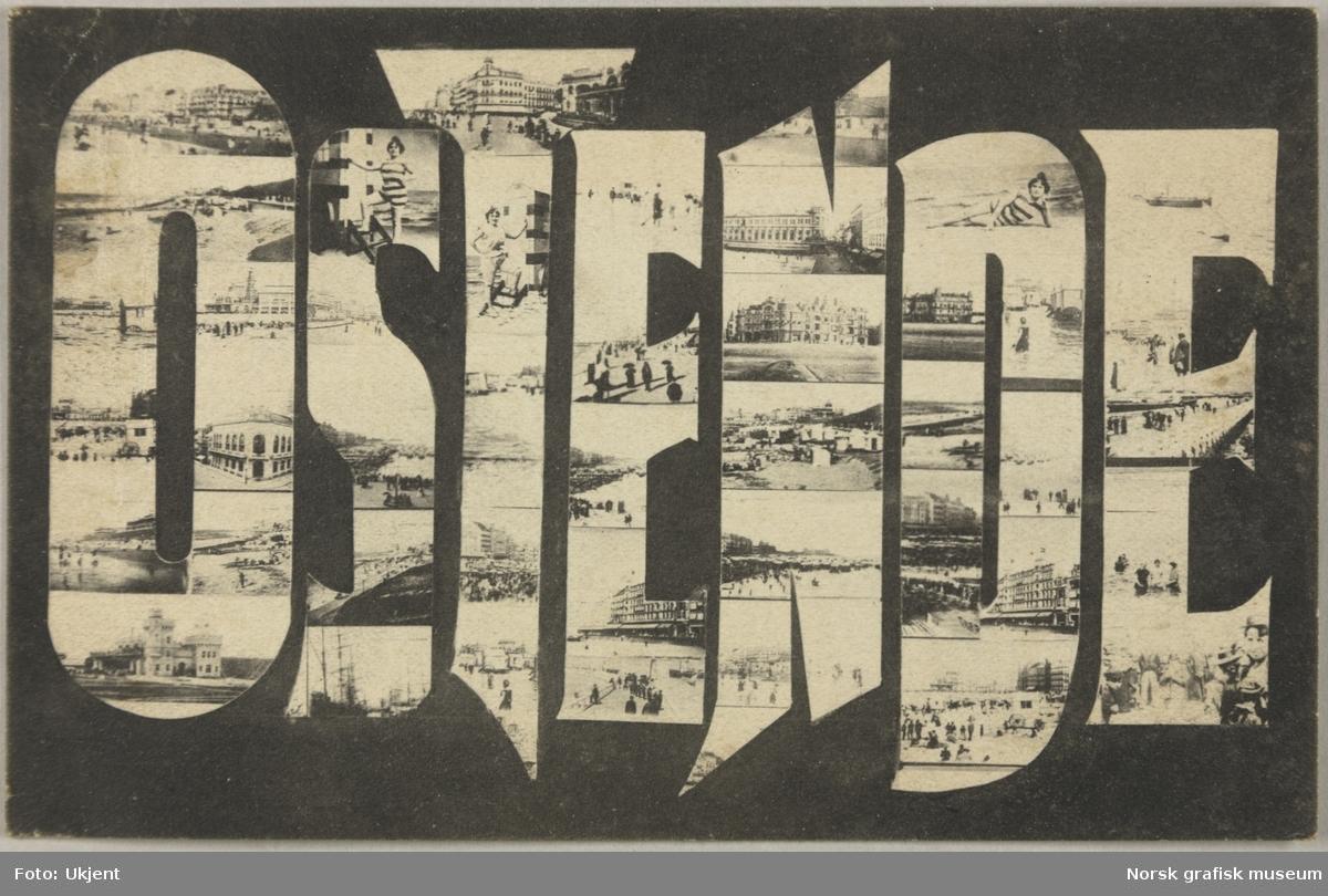 Postkort fra Oostende i Belgia.