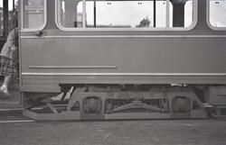 """Detalj av sporvogn nr. 525, """"Lundinvogn"""""""