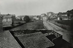 Hammersborg. Utsikt fra Rosteds gate mot Dops gate. Udatert.