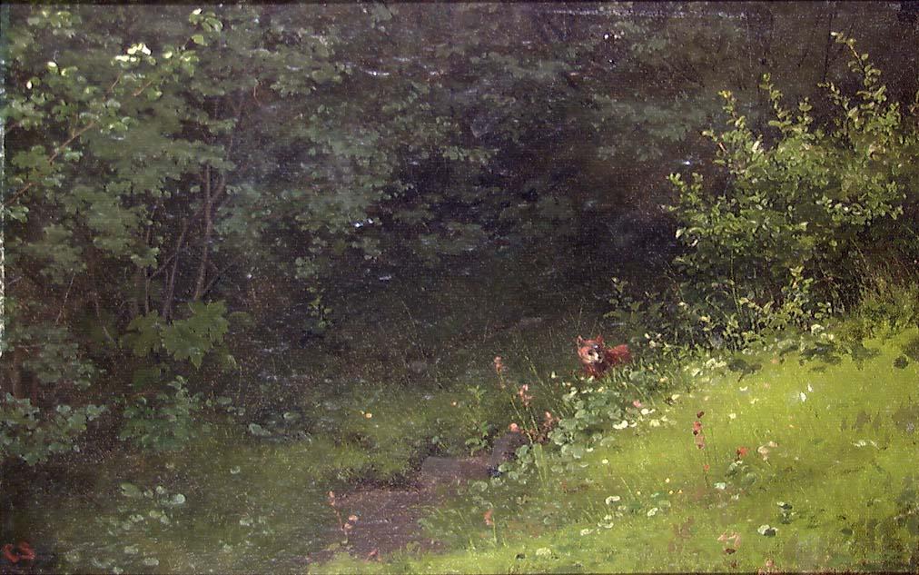 Skogparti med rev [Maleri]