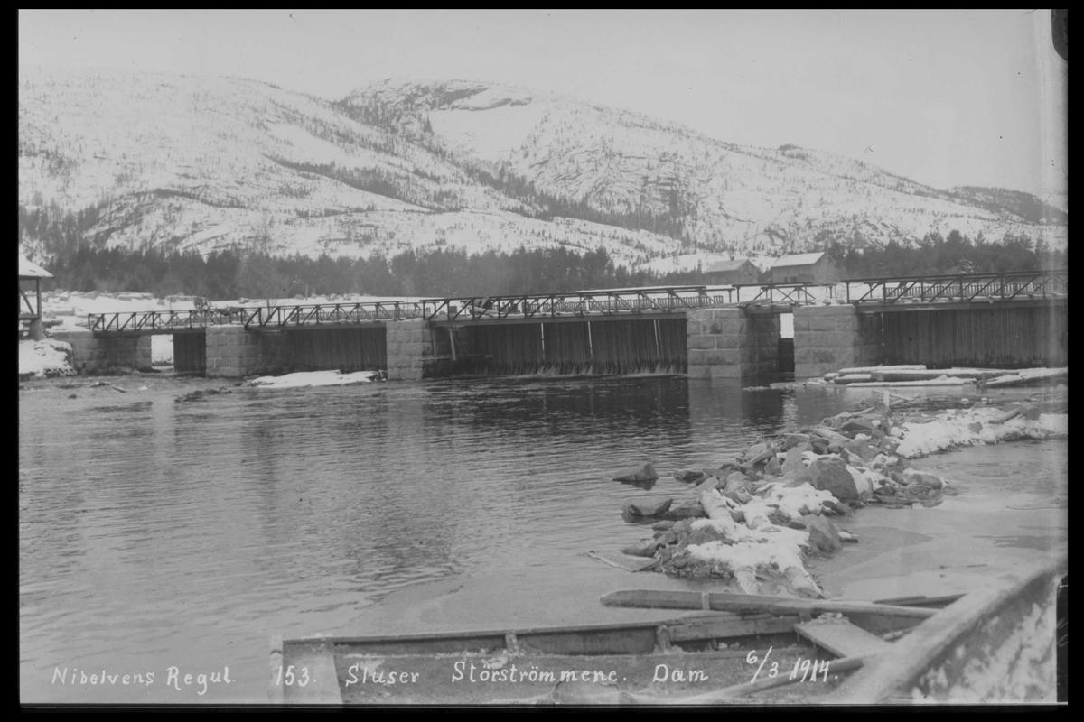 Arendal Fossekompani i begynnelsen av 1900-tallet CD merket 0446, Bilde: 38 Sted: Storstraumene Beskrivelse: Regulering