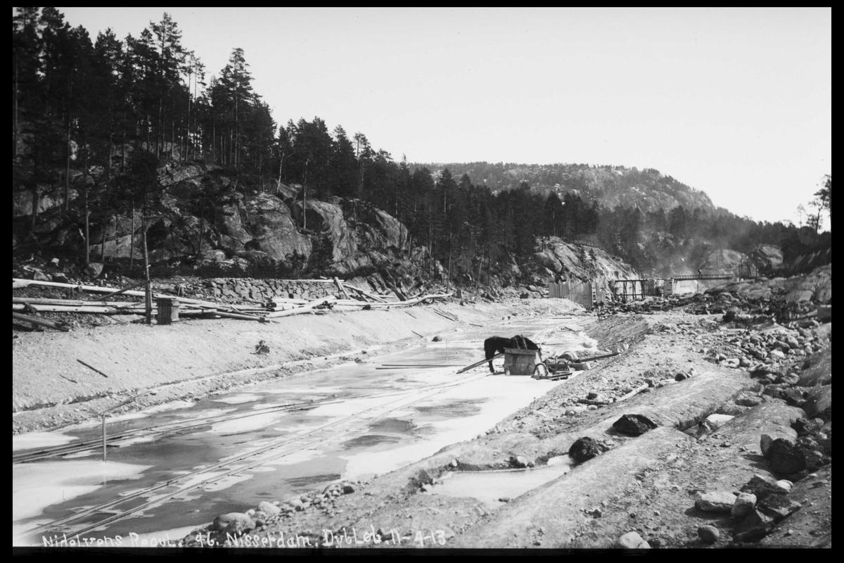 Arendal Fossekompani i begynnelsen av 1900-tallet CD merket 0565, Bilde: 57 Sted: Nisser Beskrivelse: Dam