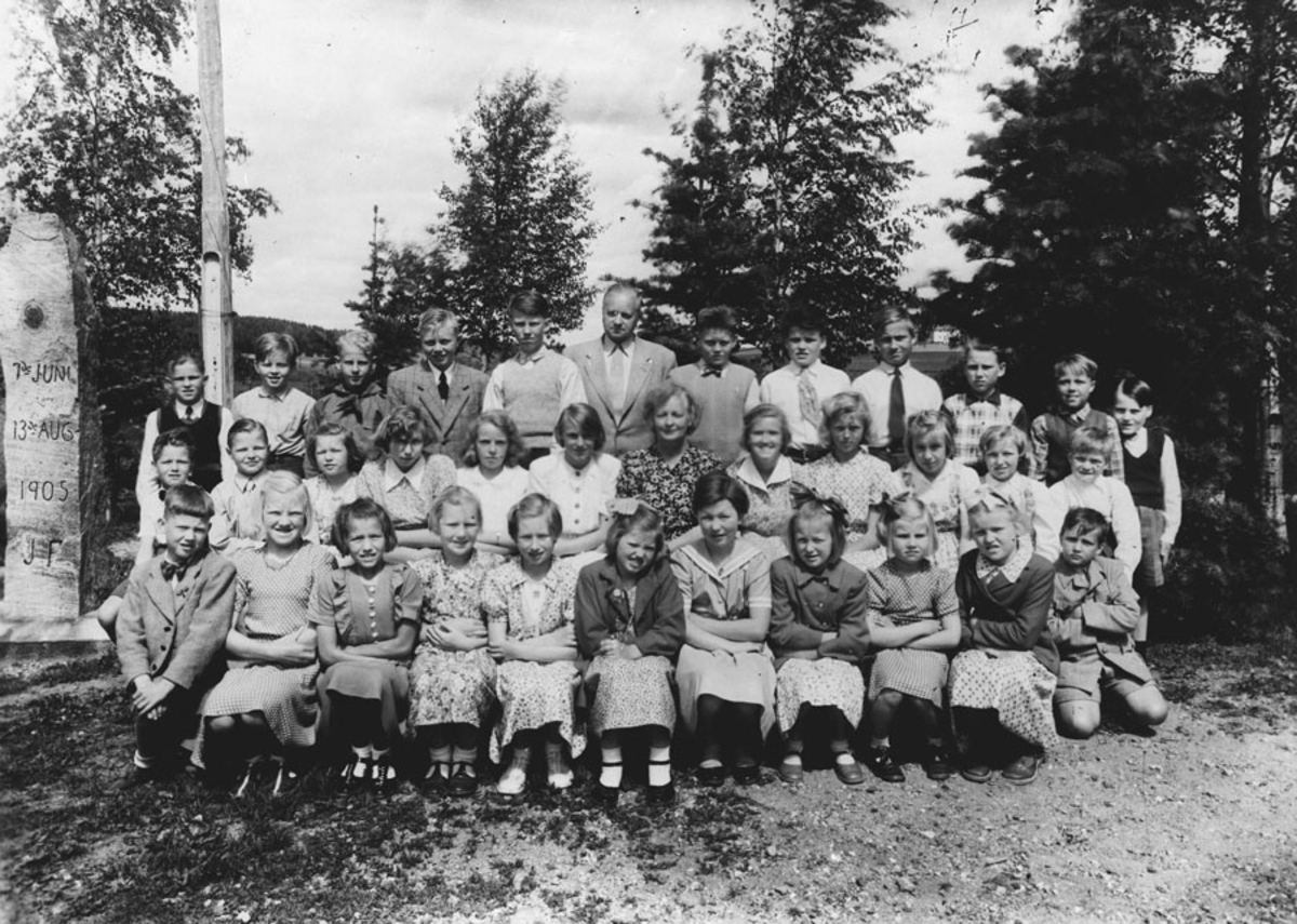 Elever ved Bjerke skole i Kråkstad