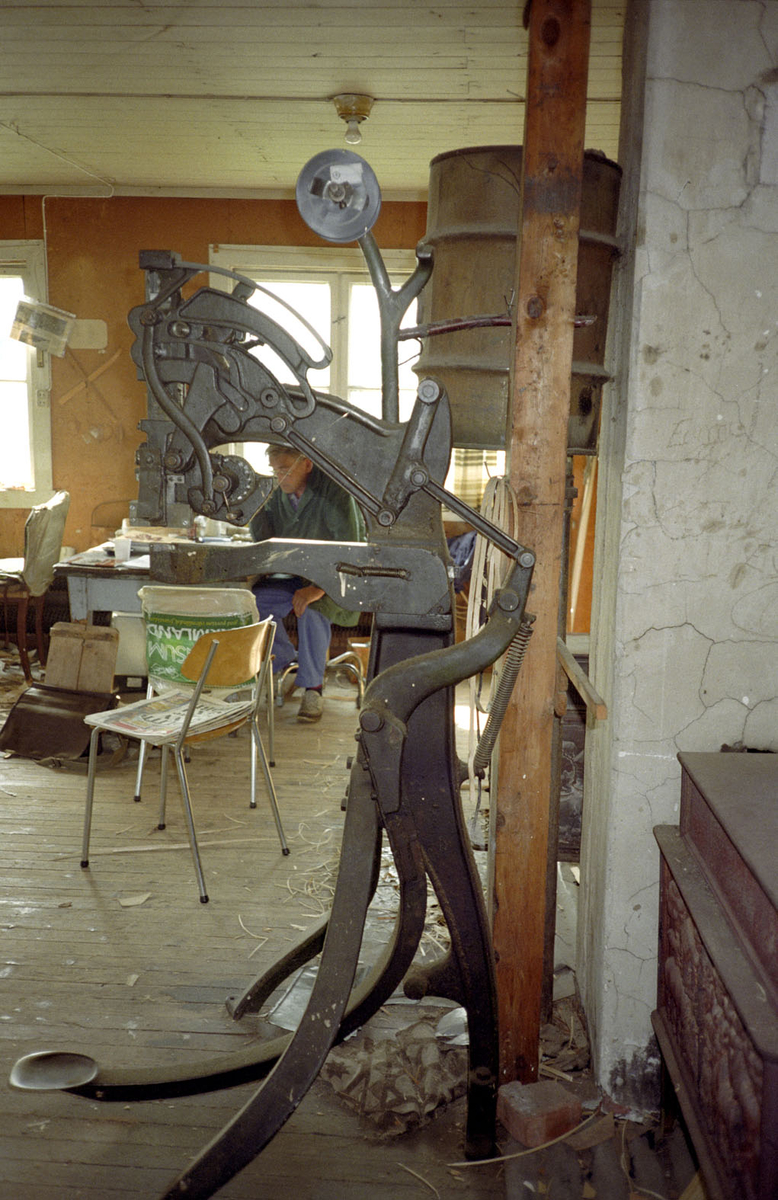 Stiftemaskin ved Nilsens kurvfabrikk