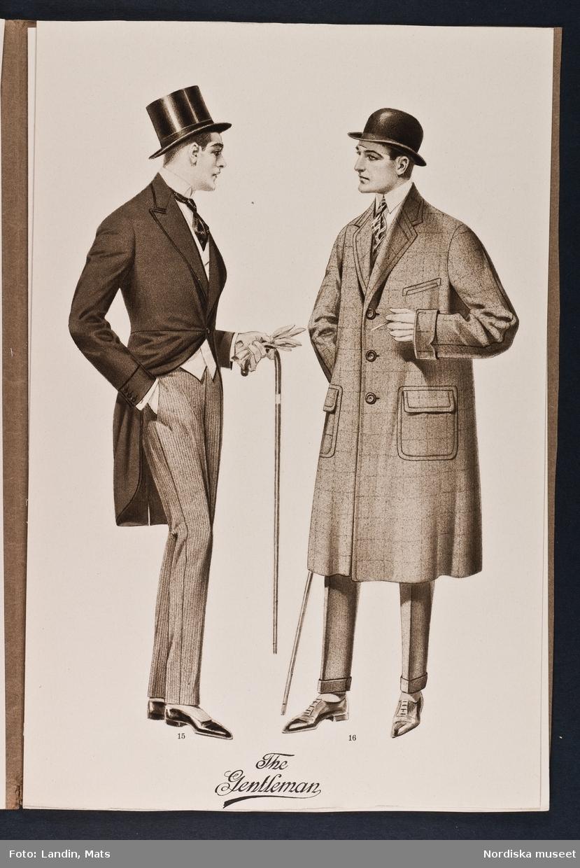 Herrmode. The Gentleman summer 1922. NK