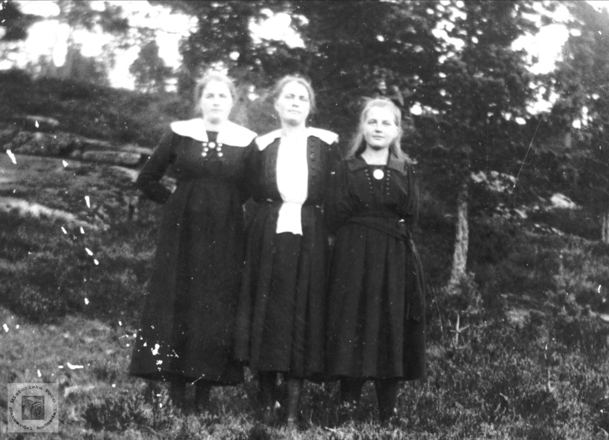 Portrett av Guri, Karen og Torborg Roland, Bjelland.
