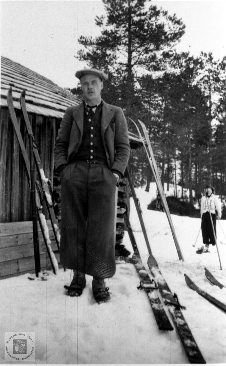Olav Ånenson Stedjan på skirenn, Bjelland.