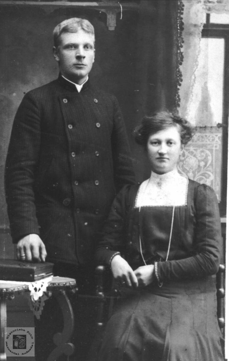 Ekteparet Anve og Berte Øyslebø.