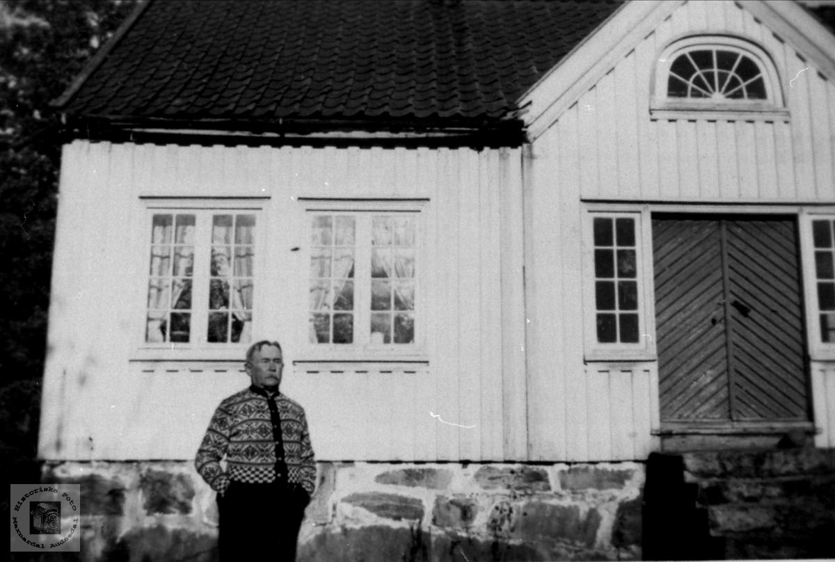 Portrett av Fredrik Finsdal på Lille Strædet, Laudal.