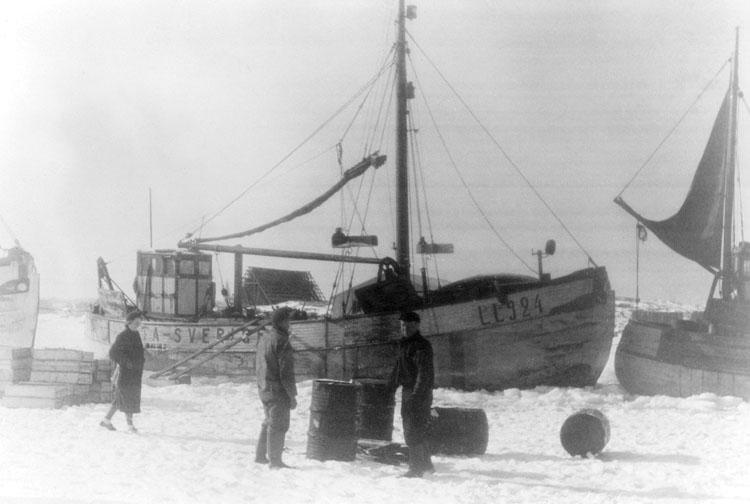 Isvinter på Hovenäset krigsåren på 1940-talet.