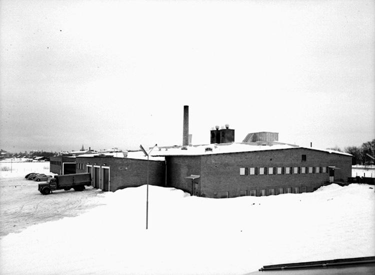 Konsums Charkuterifabrik, på Aspholmsvägen 3 Örebro. Exteriör.
