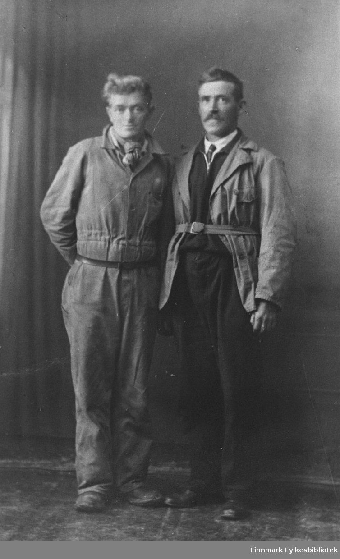 Albert Mikkelsen og Hans Brevik fotografert i Vardø.
