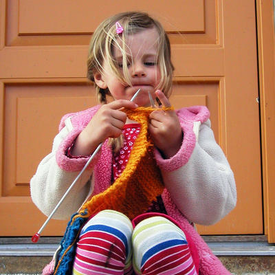 Knitting Girl