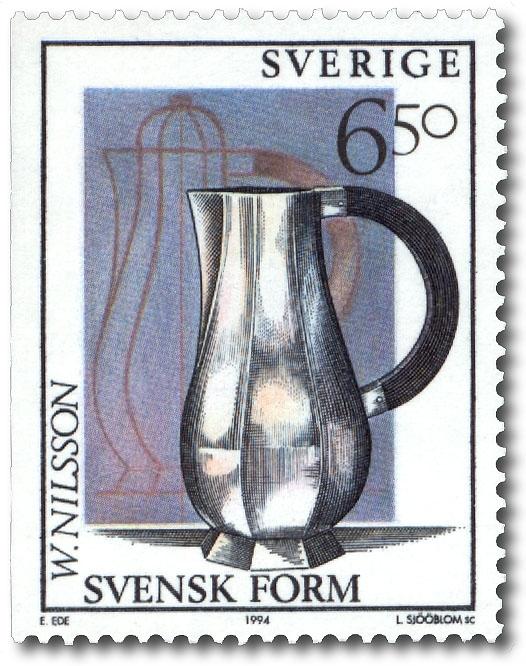 Wiwen Nilsson: Vattenkanna i silver, kaffekanna