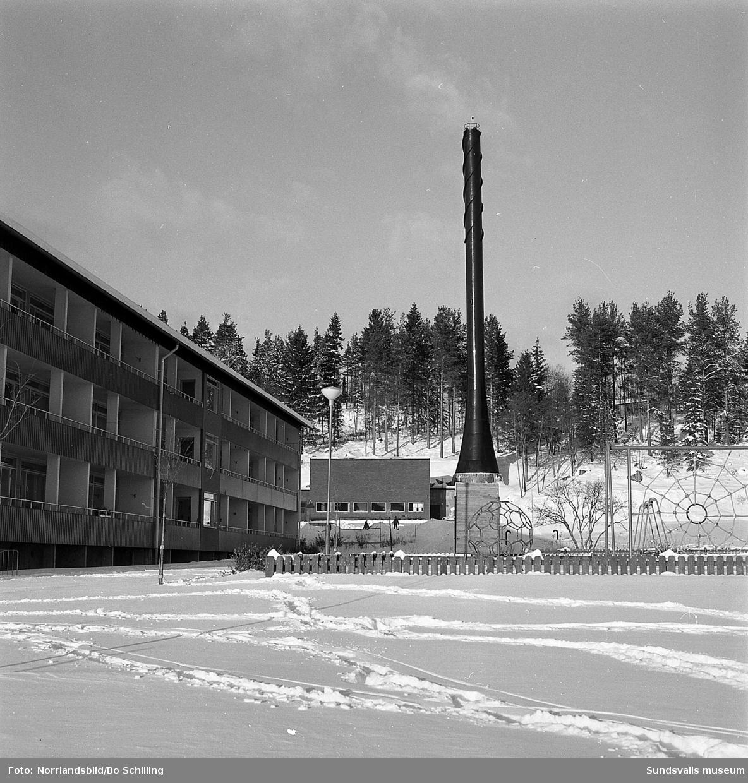 Byggbilder och exteriörer från bostadsområden i Granlo.