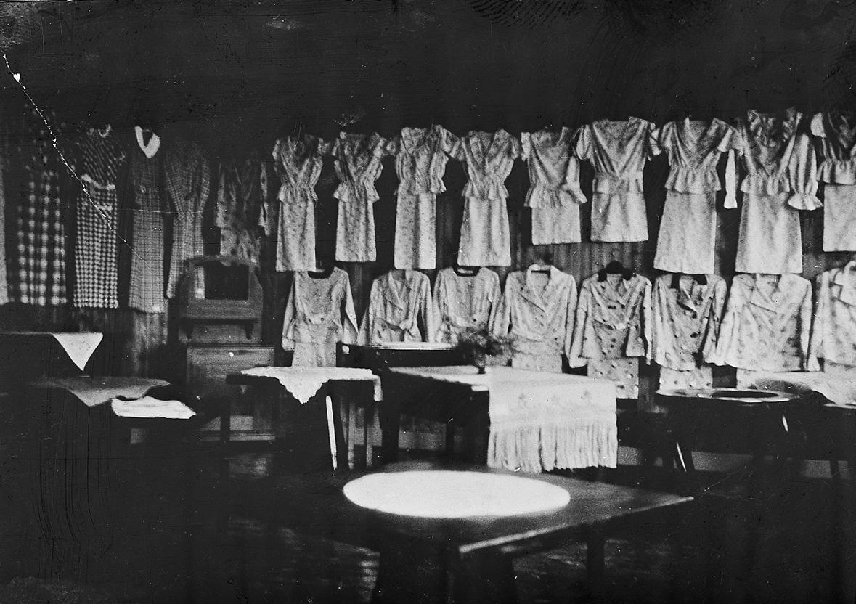 Svanvik Ungdomsskole, utstilling av elev-arbeid 1936-1937.