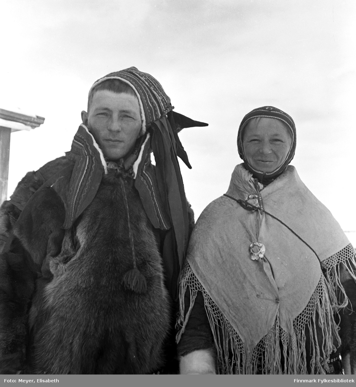Brudeparet Marit Magnusdatter Sara og Mathis Mathisen Hætta.