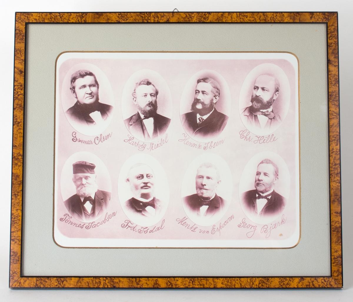 Foto av medl. av Bergen Skipperforening, ca, 1890