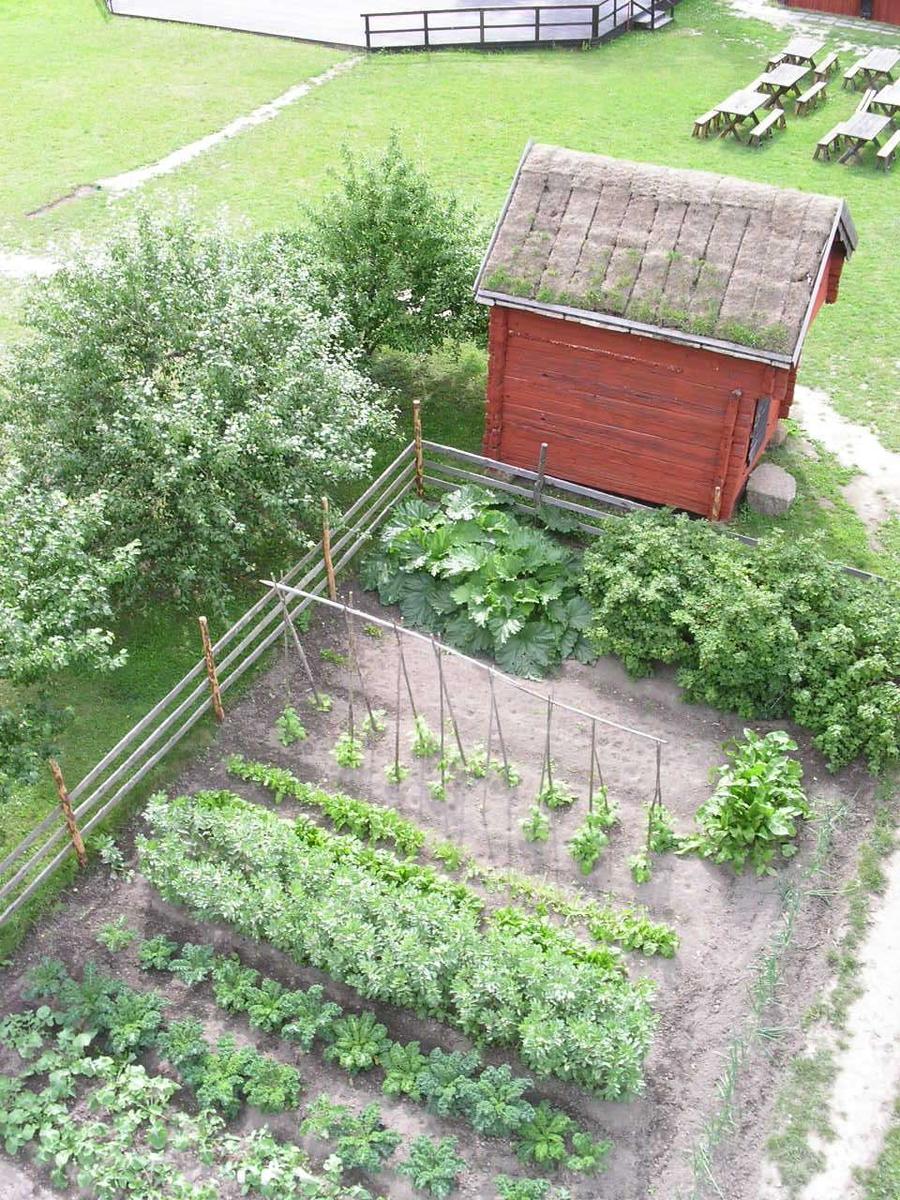 Kålgården samt en bod på friluftsmuséet Disagården, Gamla Uppsala, juli 2007