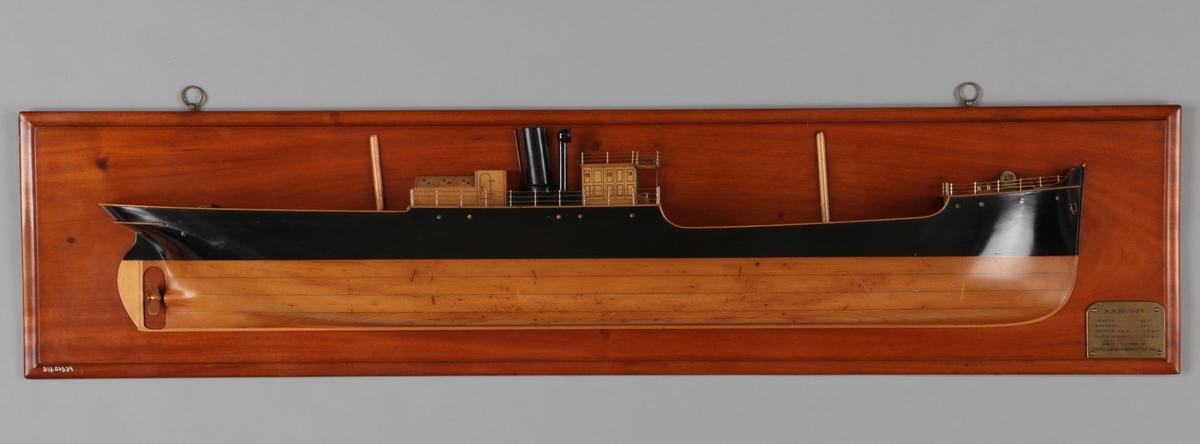 Halvmodell av DS HUGIN bg. 1884